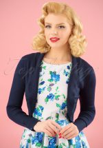 50s Jean Knitted Bolero in Navy
