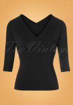 50s Betty Top in Black