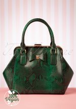 40s Molly Snake Bag in Green