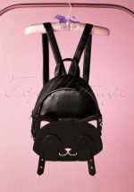 50s A Cat With Tricks Backpack in Black