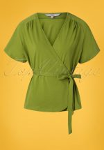 30s Fancy Raglan Top in Olive Green