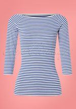 50s Frou Frou Striped T-Shirt in Navy and White