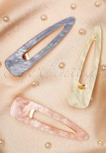 Marble Hairclips in Pastel