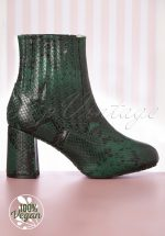 60s Eileen Ankle Booties in Green
