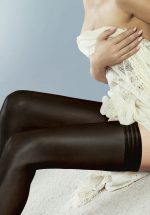 50s Perfectly Sheer Tri Band Hold Ups in Black