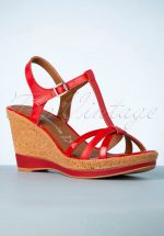60s Wendy Wedges in Red