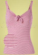 50s Gisele Babylon Stripe Camisole Top in Vivid Purple