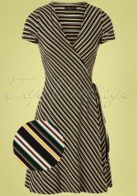 60s Gelati Wrap Dress in Black
