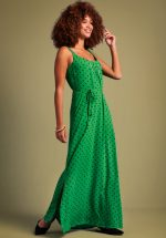 60s Allison Pablo Maxi Dress in Very Green