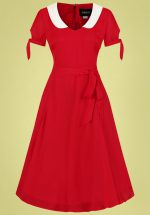 50s Mirella Swing Dress in Red