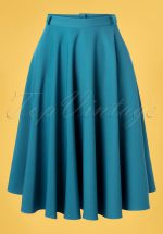 50s Circle Skirt in Light Petrol