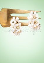 60s In Bloom Earrings in White