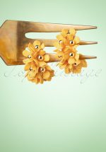 60s In Bloom Earrings in Yellow