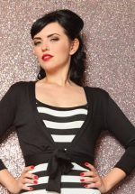 50s Sweet Sweater Bolero in Black