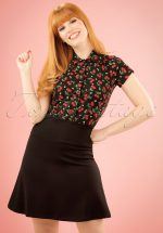 50s Borderskirt Milano in Black