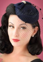 50s Judy Hat in Navy