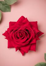 50s Esme Velvet Rose Hair Clip in Red