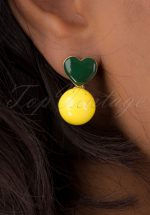50s Laima Studs in Yellow and Green