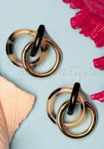 60s Tortoise Circle Earrings in Gold