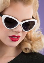 50s Boss Babe Sunglasses in Black and White