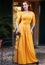 50s Giada Jumpsuit in Sun Yellow