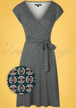60s Lot Bourbon Dress in Dragonfly Green