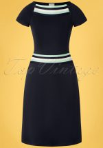 60s A Trip To Rome Dress in Navy