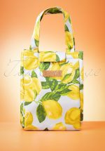 50s Lemon Lunch Bag in Multi Yellow