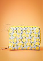 50s Lemon Wallet in Blue and Yellow