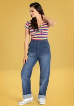 50s Cassidy Denim Jeans in Blue