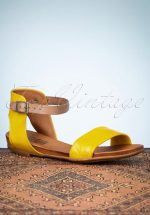 70s Alanis Sandals in Yellow