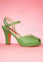 50s Loraine Butterfly Platform Sandals in Spearmint