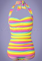 50s Iris Frock One Piece Swimsuit in Multi