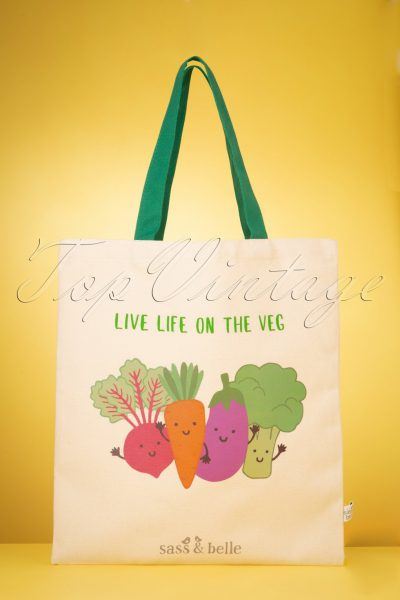 Live Life On The Veg Tote Bag