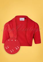 50s You Are My Sunshine Bolero in Red