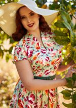 50s Acilia Swing Dress in Minty Floral